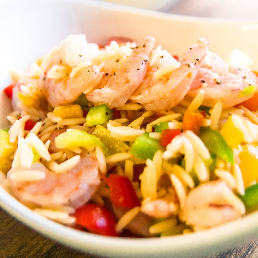 Shrimp Orzo Pasta Salad
