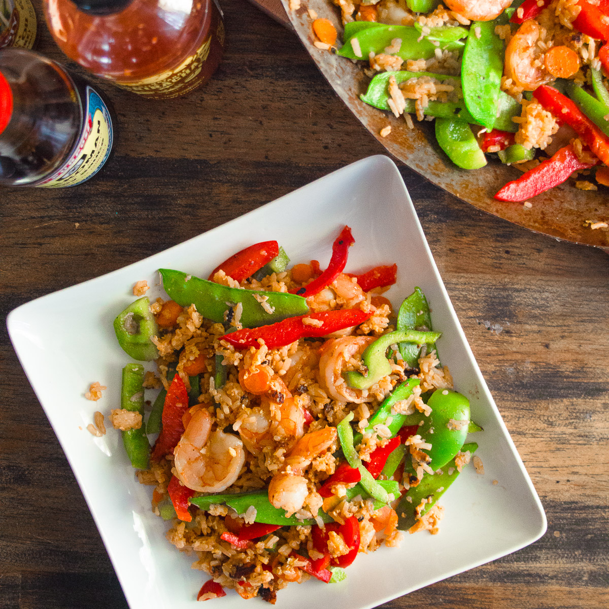 Sriracha Shrimp Fried Rice Medley - Dad With A PanDad With A Pan