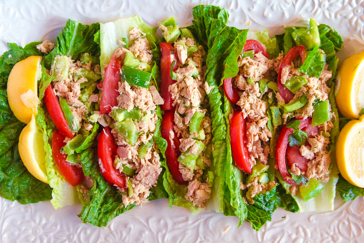Tuna Salad Lettuce Wrap - Dad With A Pan