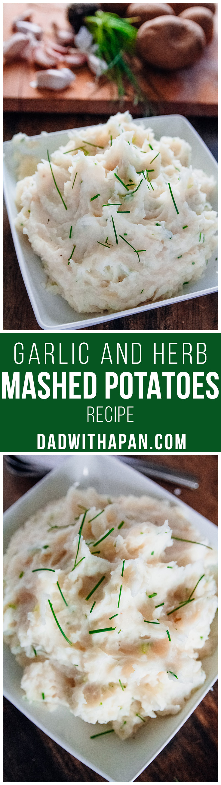 Buttery Garlic and Herb Mashed Potatoes