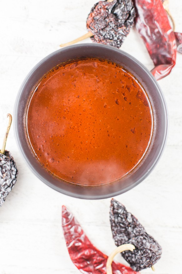 Mexican Spicy Red Chile Sauce - Dad With A Pan