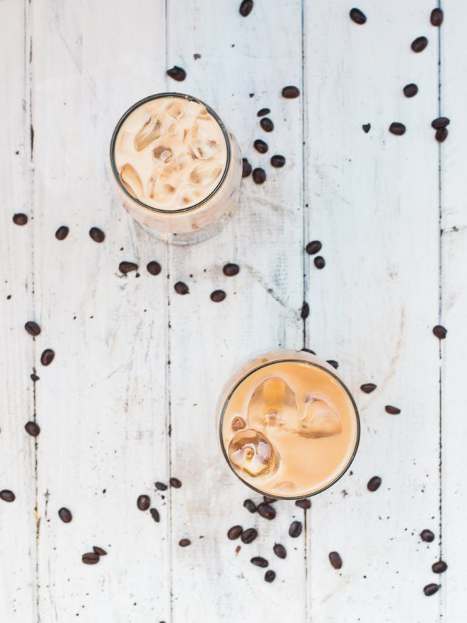 A coffee cocktail perfect for summer time! Cinnamon whiskey adds a lovely spice to this iced coffee cocktail. Delicious and refreshing!