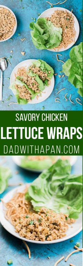 Chicken lettuce wraps cooked in soy sauce, hoisin sauce, sriracha and other amazing ingredients. A great appetizer or main course. One of my favorites!