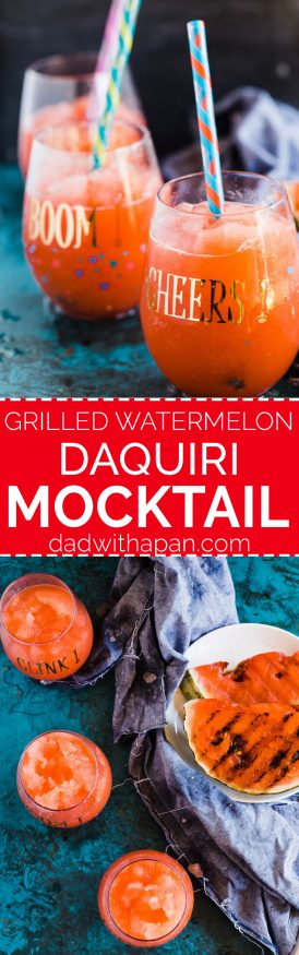 Watermelon Daiquiris are delicious, but have you ever tried a grilled watermelon daiquiri? It's got a slightly sweet and hint of smoky flavor to it, that's amazing! dadwithapan.com