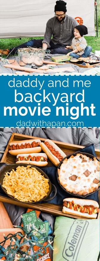 """It's so important to spend some quality """"Daddy and Me"""" time with your firstborn before they become a sibling. This calls for a backyard movie night! dadwithapan.com"""
