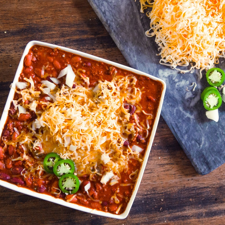 Spicy Crock Pot Chili Dad With A Pan