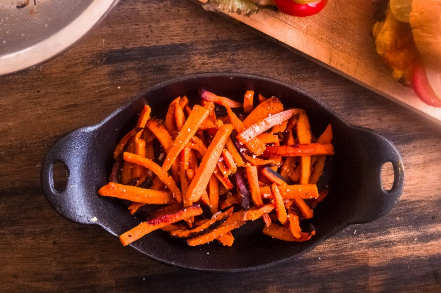 recipe: frozen sweet potato fries on the grill [15]