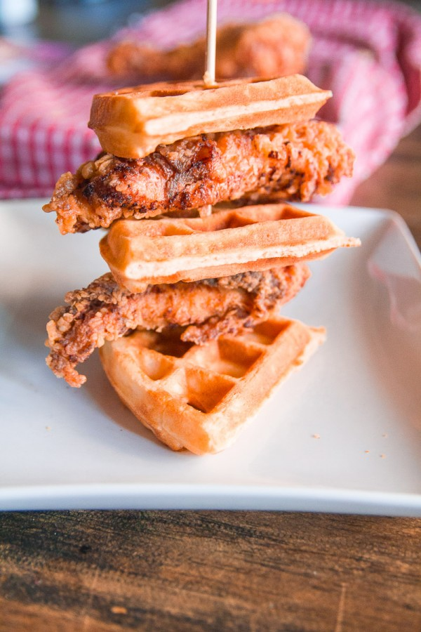Skillet Fried Chicken And Waffles Dad With A Pan