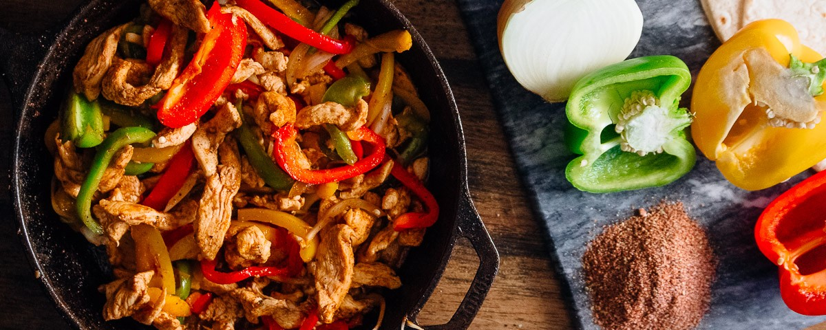 Spicy Chicken Fajitas Dad With A Pan