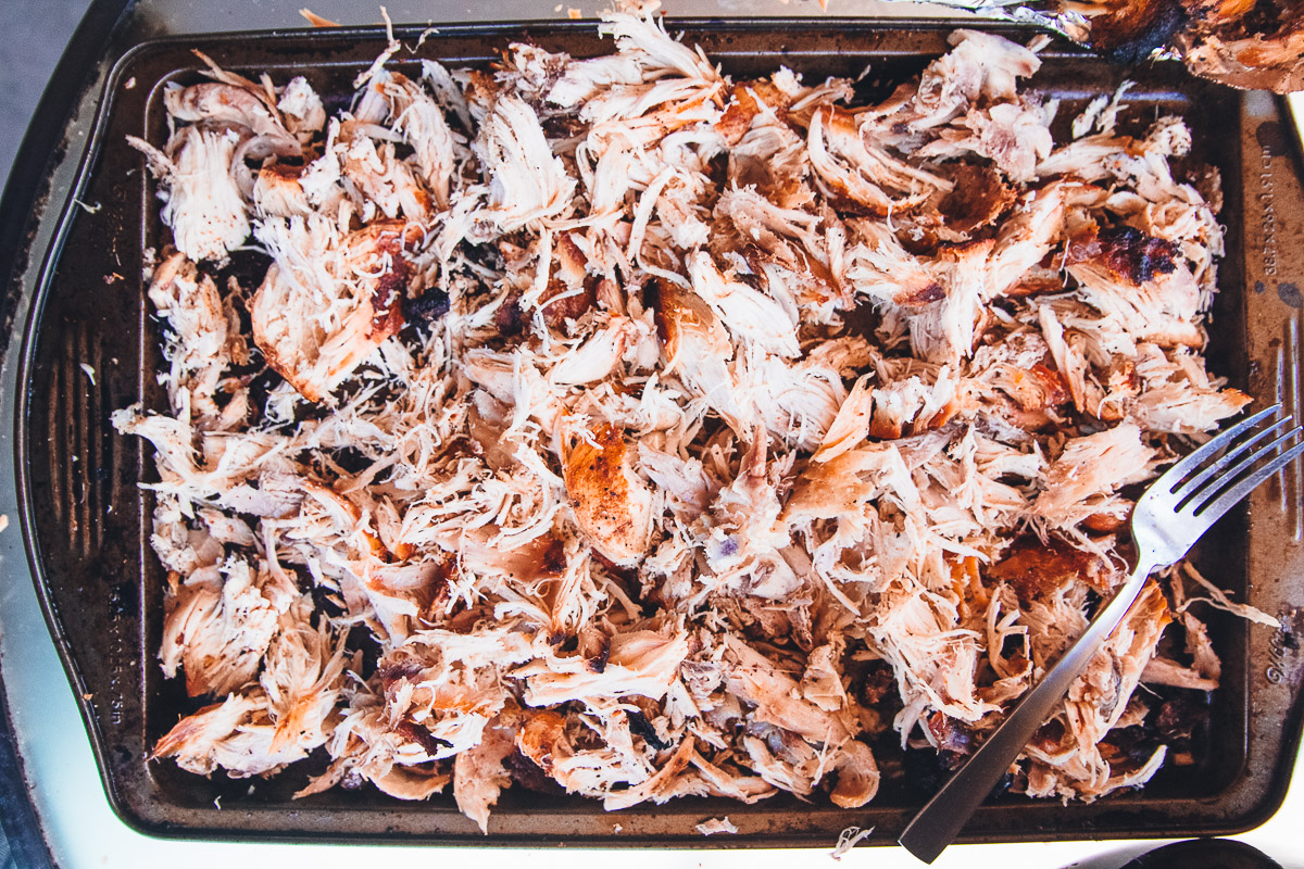 Smoked Barbecue Pulled Chicken Dad With A Pan