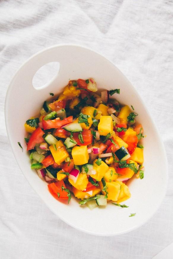 Cucumber Mango Salsa #Spicy #Mango #Salsa