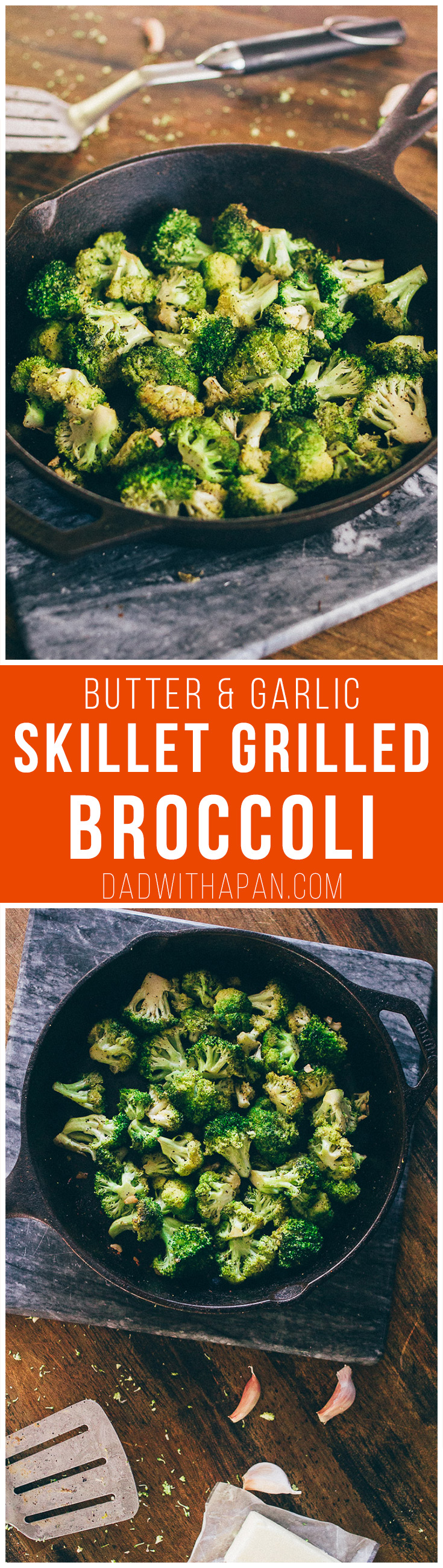Butter and Garlic Grilled Broccoli #Vegetarian #Grilled