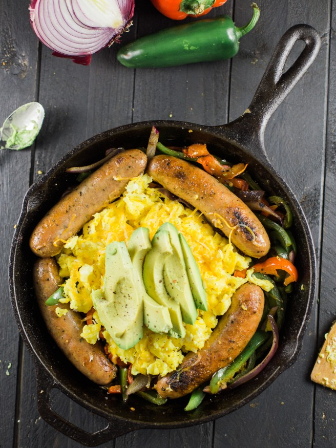 Vegetable Sausage And Egg Scramble Dad With A Pan