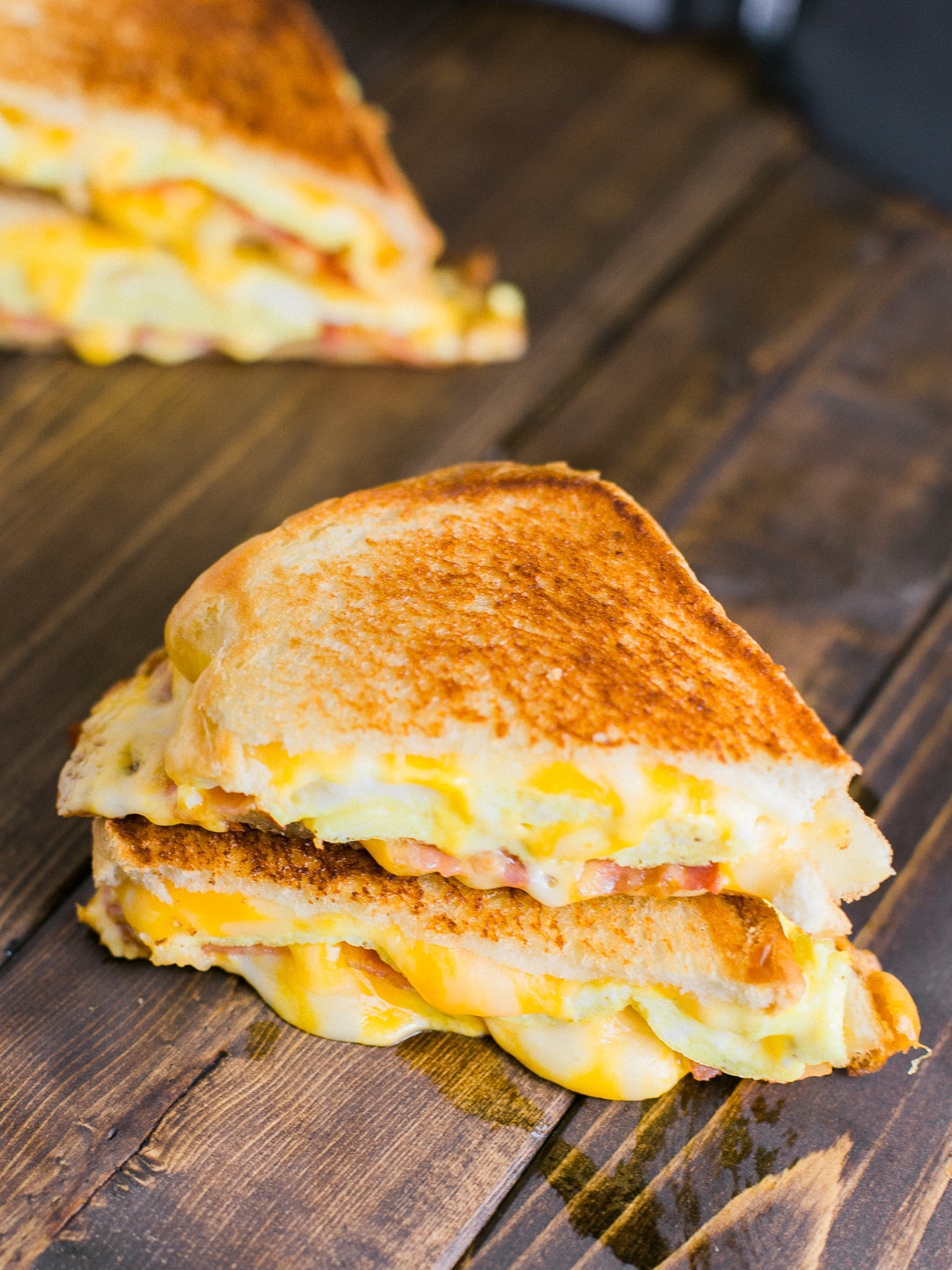 Breakfast Grilled Cheese Sandwich Dad With A Pan