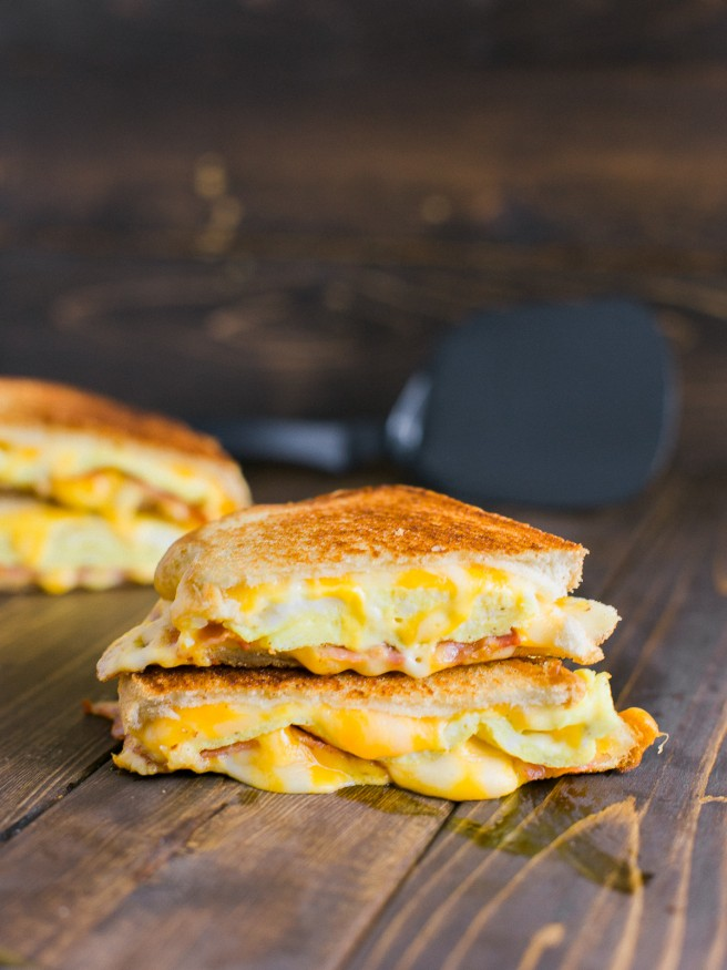 Grilled Cheese Breakfast Sandwich - Dad With A Pan