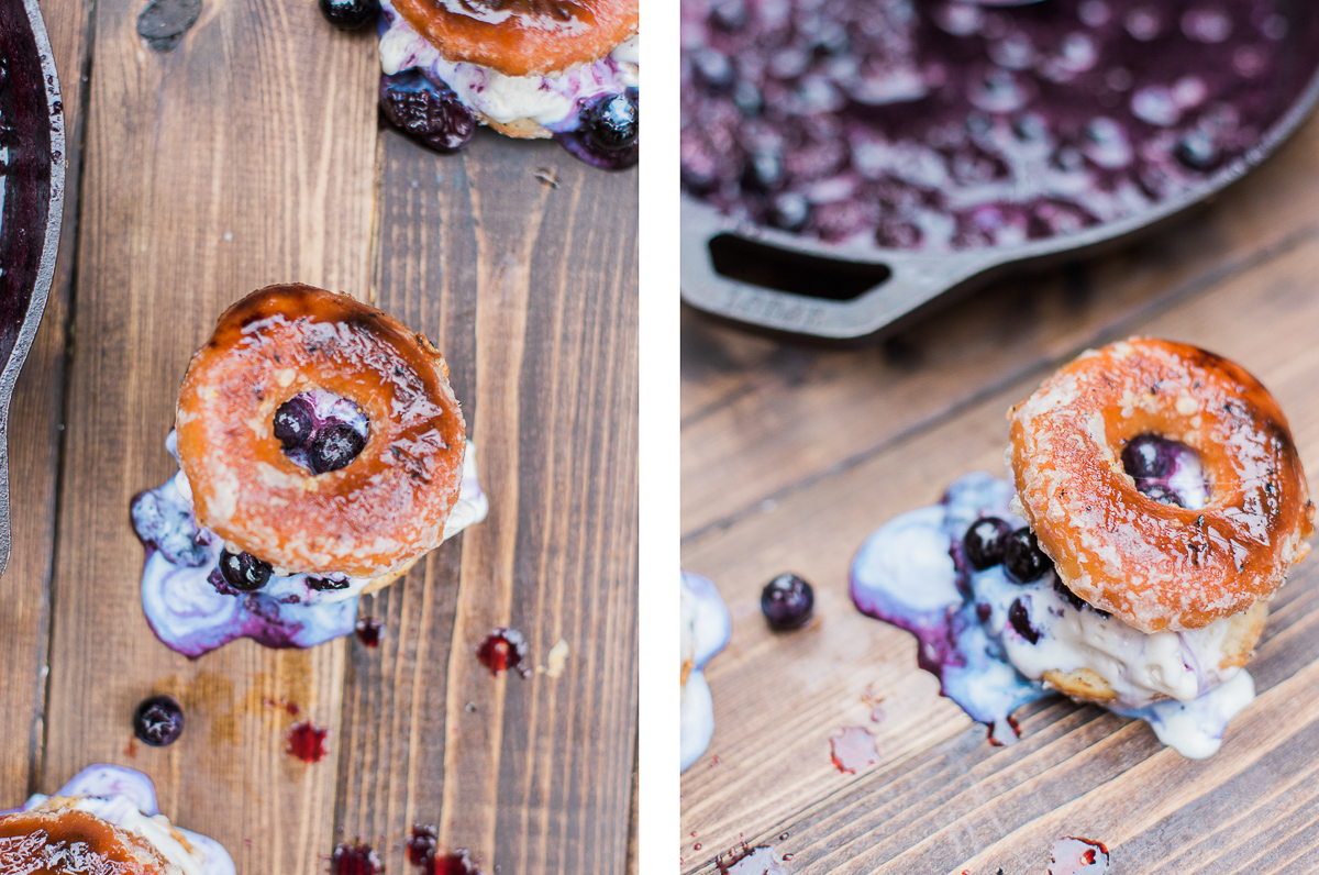 Grilled donut ice cream sandwich dad with a pan this sauce is perfect hot or cold by the way its amazing right off the skillet or let it cool down and thicken up and pour it over your ice cream ccuart Gallery