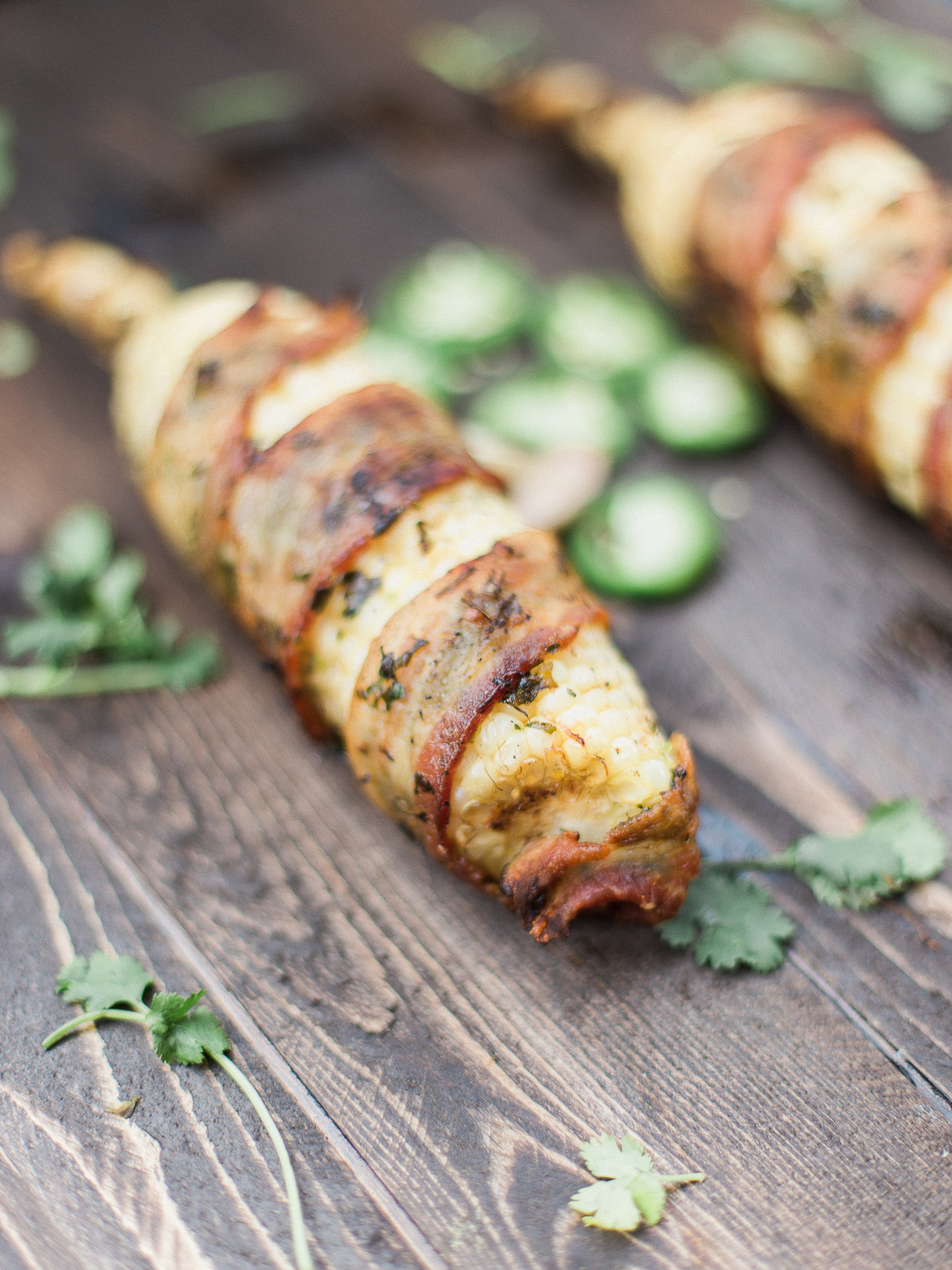 Jalapeno Bacon Wrapped Corn - Dad With A Pan