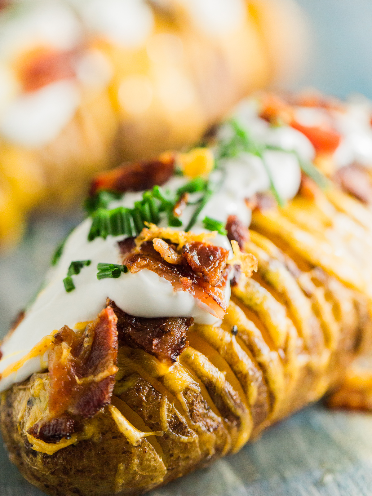 Loaded Hasselback Potatoes Dad With A Pan