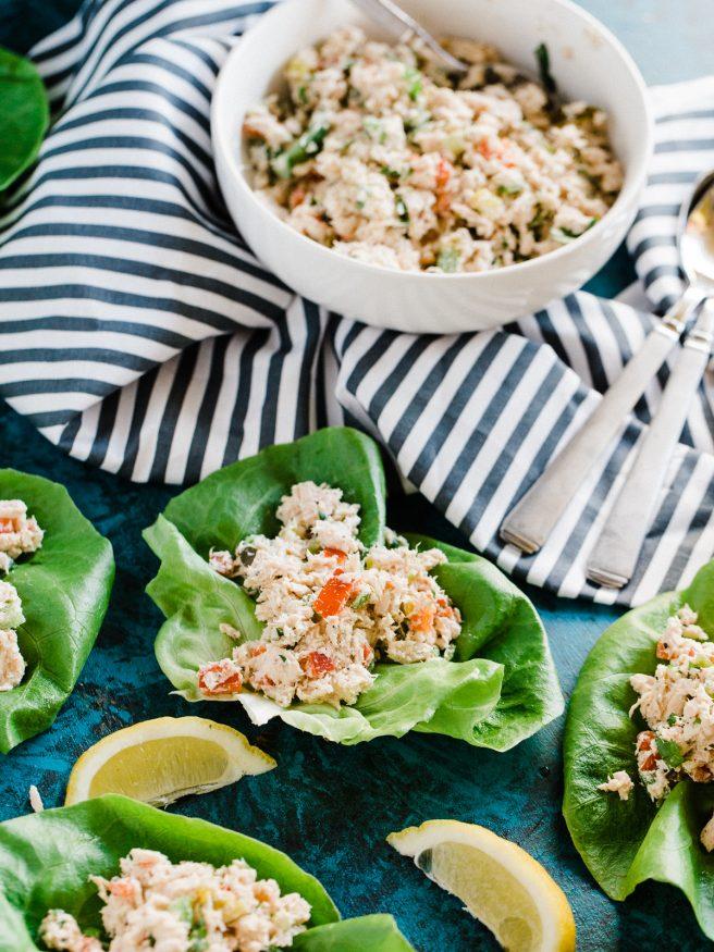 Tuna Niçoise Lettuce Wraps