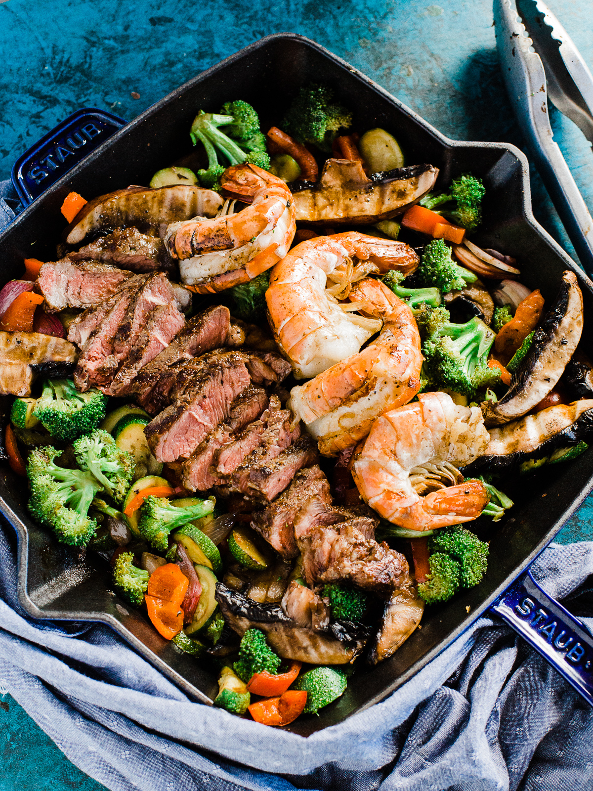 Surf N Turf Steak And Shrimp Paleo Bowl Dad With A Pan