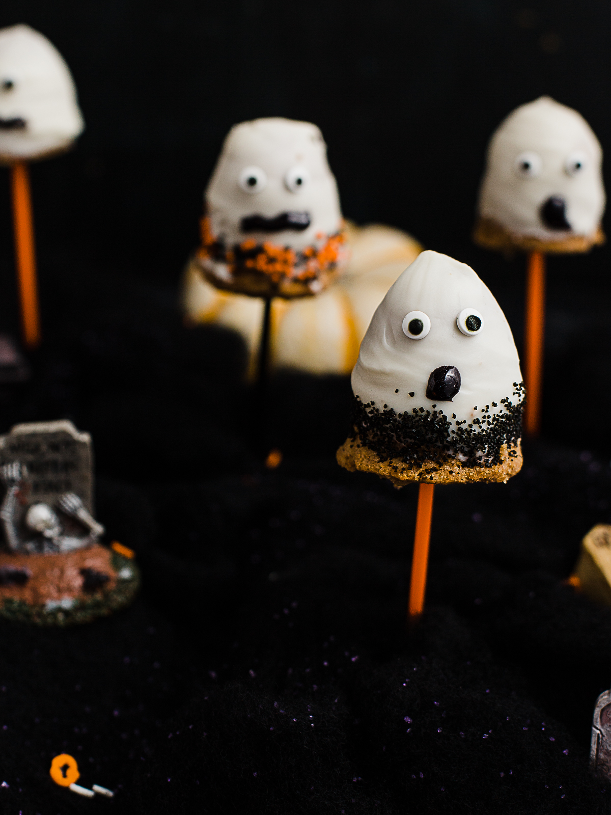 Spooky Ghost Pumpkin Spice Cake Pops Dad With A Pan