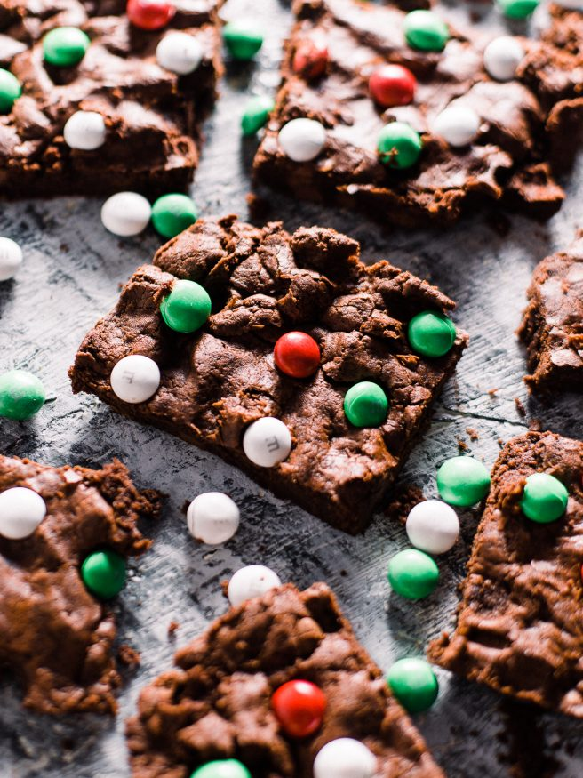 Double Chocolate Chip Mint M Amp Ms Cookie Bars Dad With A Pan