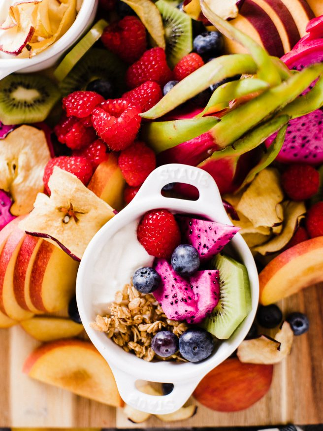 A Yogurt Bar with your children's favorite fruits and toppings is the perfect way to have a special after school snack waiting for them, that doesn't take too much effort to throw together!