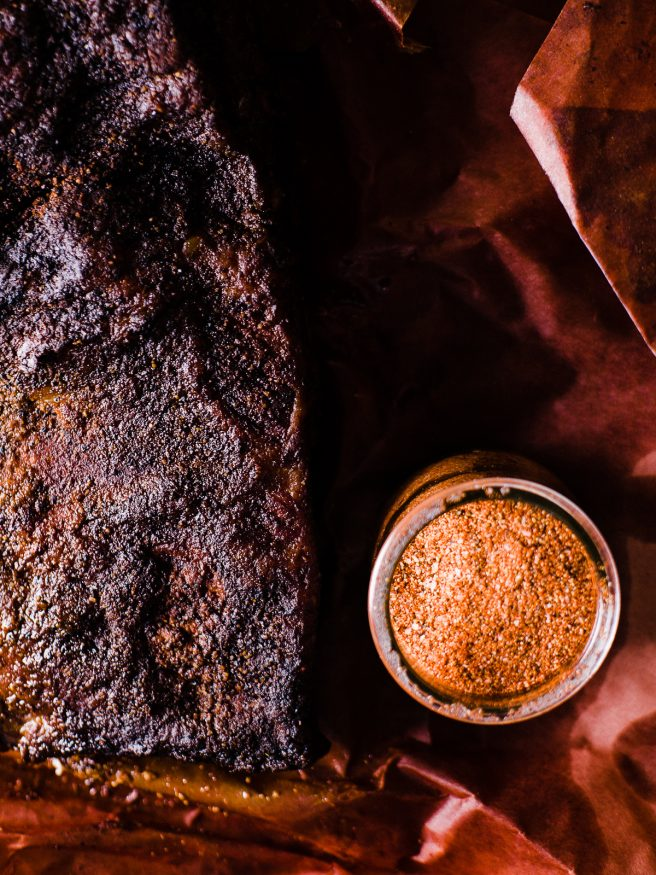 Low and Slow Smoked brisket with a simple pepper based Tesxas style rub. This is the perfect beginner recipe to get into brisket!