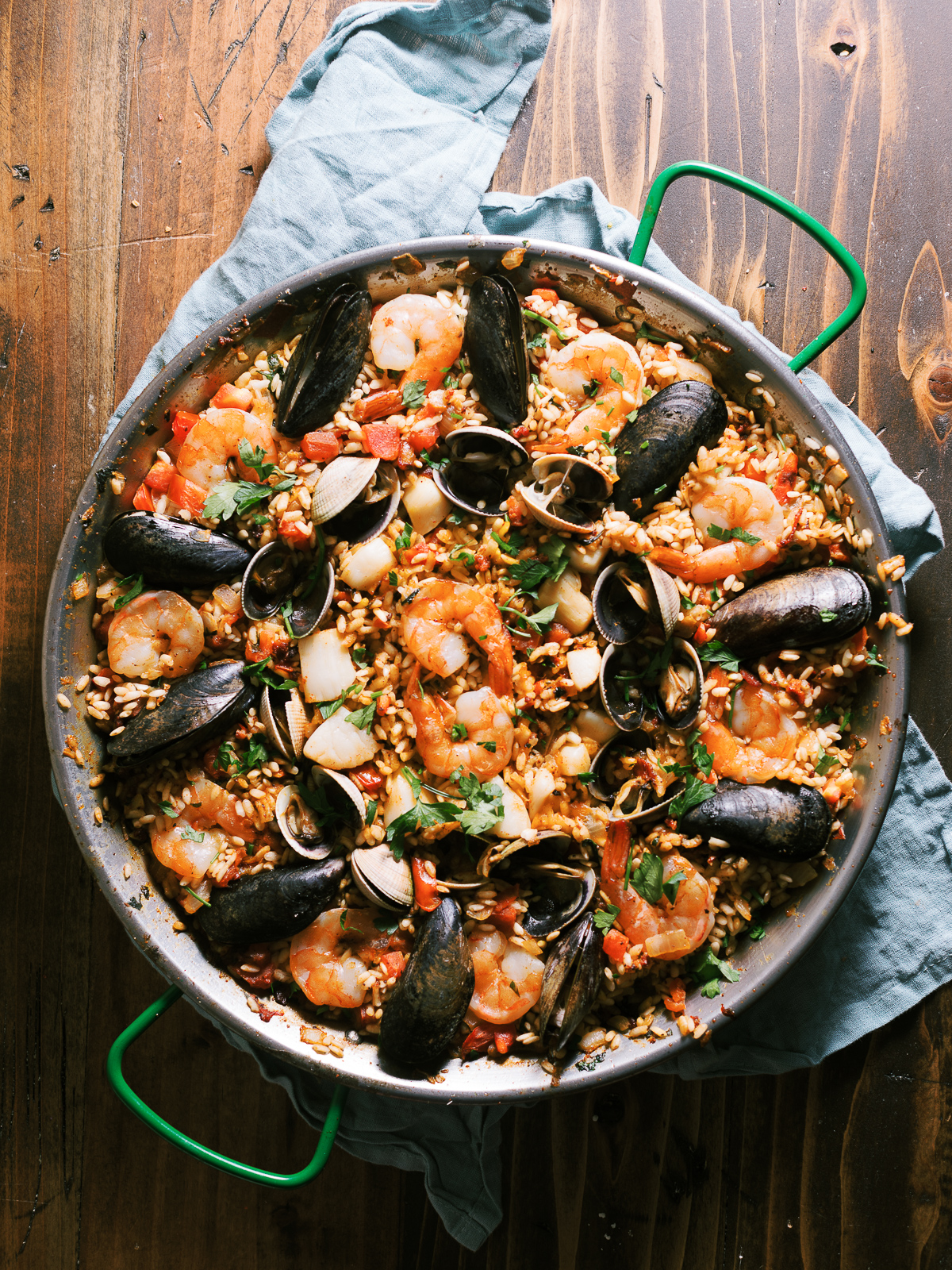 Spicy Seafood Paella Dad With A Pan