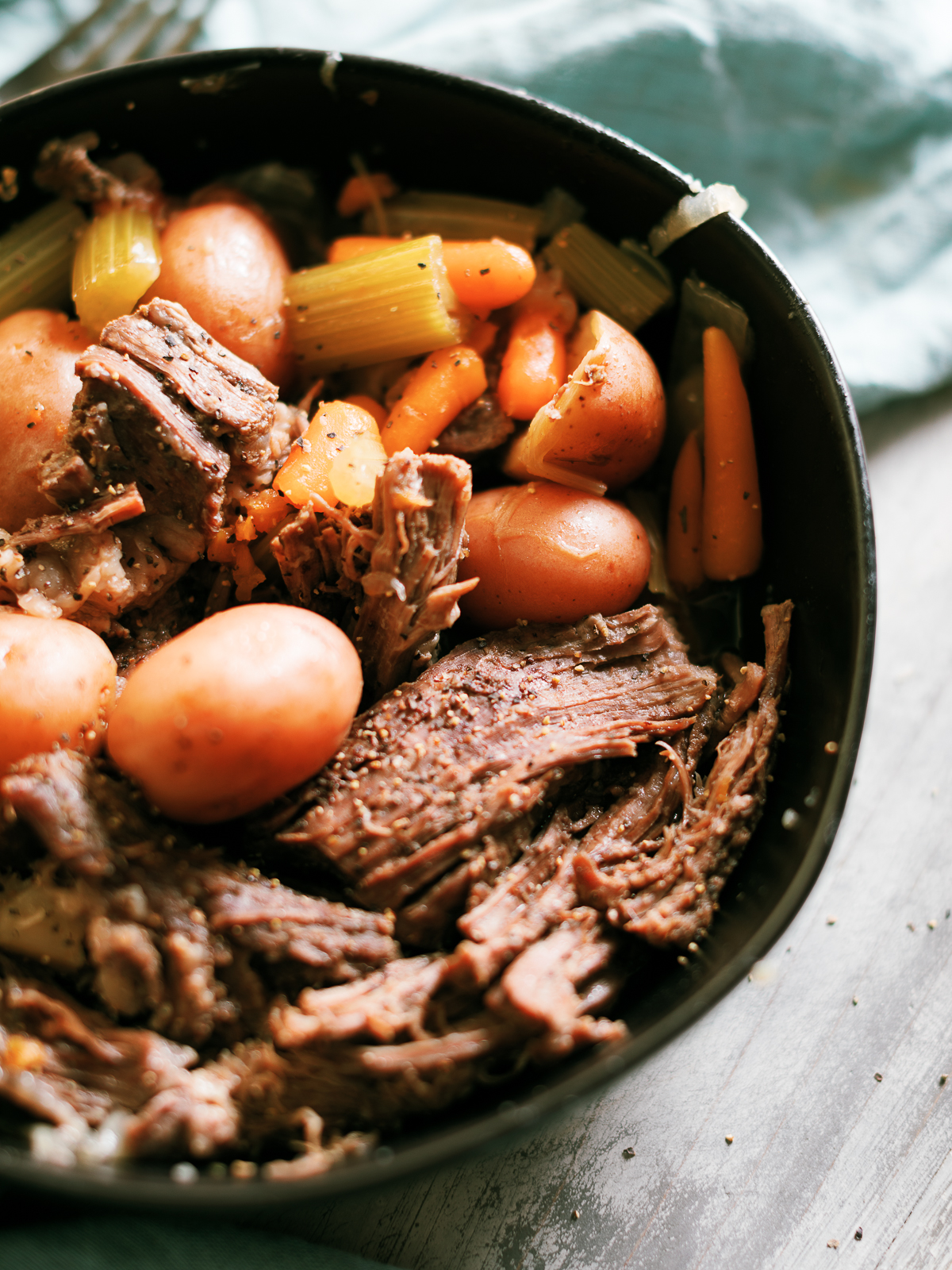 Instant Pot Roast With Beef Bone Broth Dad With A Pan
