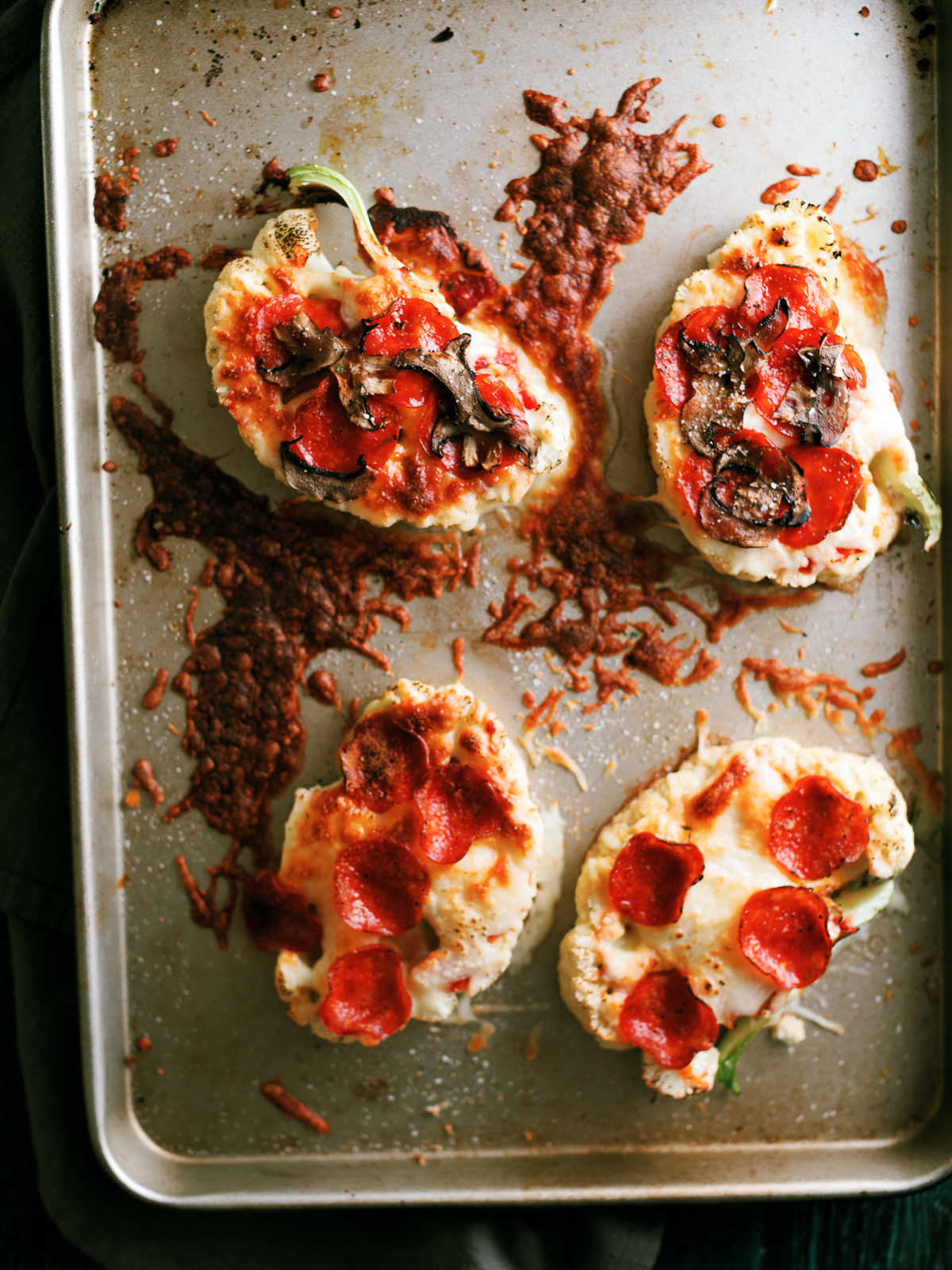 Pizza Cauliflower Steaks