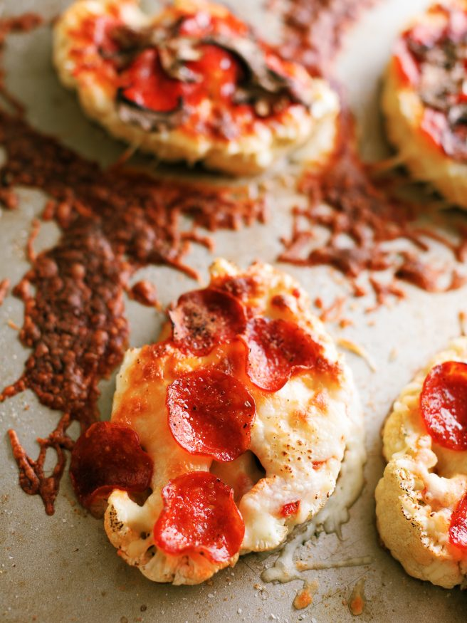 Pizza Cauliflower steaks are a great way to have a low-carb fix on pizza without the hassle of making a cauliflower dough!