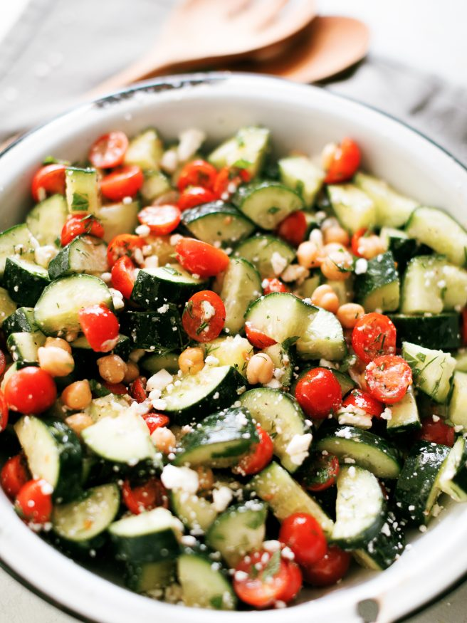 With warm days ahead of us, this cucumber salad makes an amazing side dish that you'll want to have on deck for your next grill out.