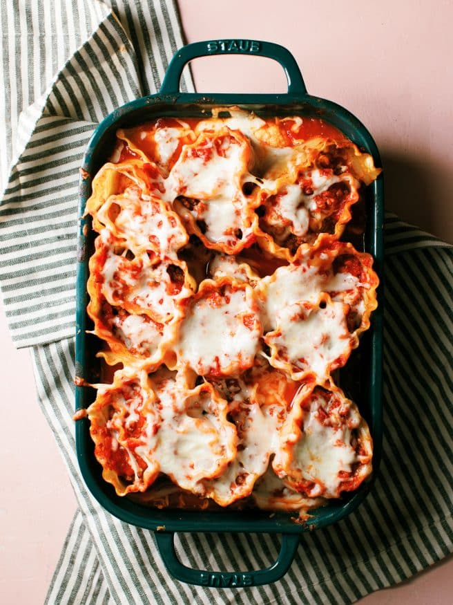 Lasagna Roll Ups are a fun way to change up lasagna night. And if you're a corner of the dish fan, think of every roll as a corner of the dish!