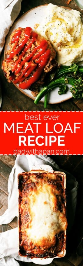 A solid meatloaf recipe with Parmesan cheese and Italian seasoned bread crumbs. Awesome comfort food!