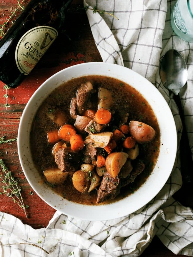 Irish beef stew is everything you expect of a beef stew, but with a kick of extra flavor from a lovely dark beer.