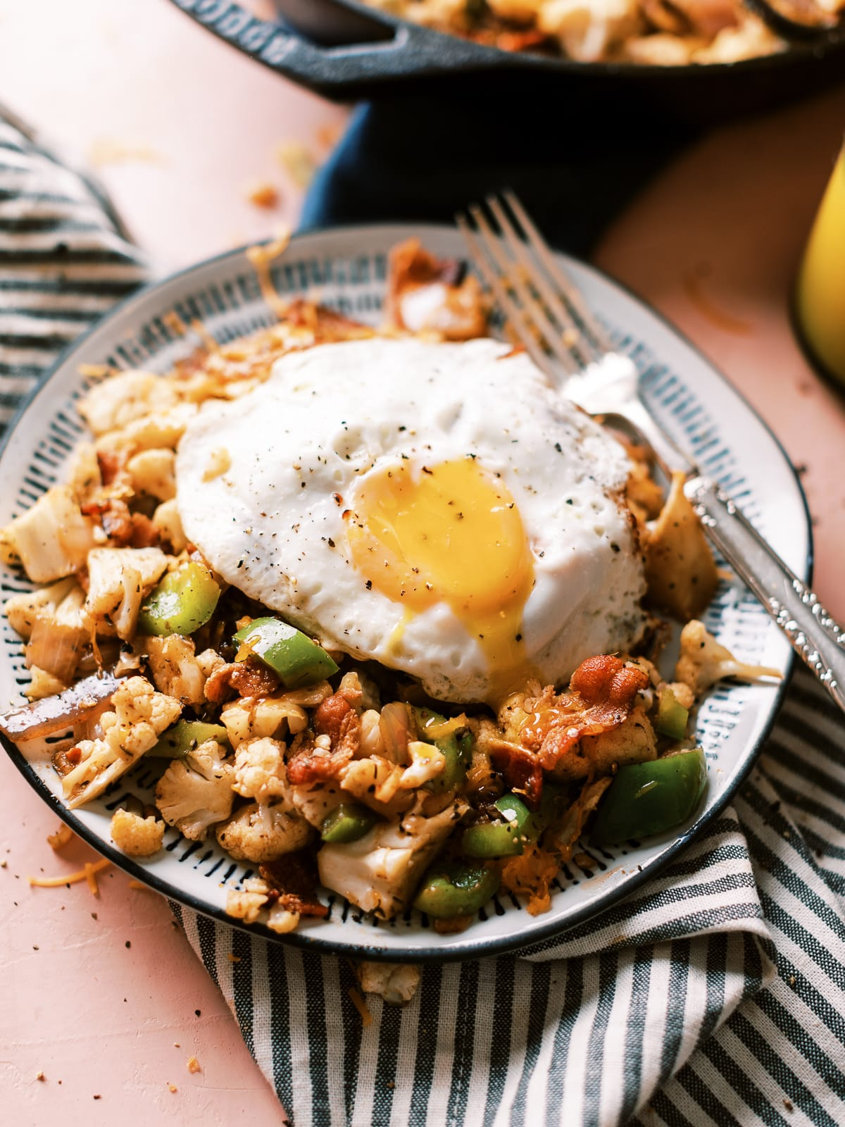 Cauliflower Bacon Hash Dad With A Pan