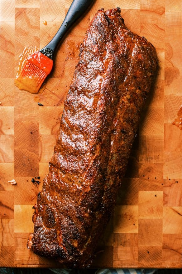 If you're into blazing hot food, you need to try these smoked ribs with mango habanero glaze. I'm talking sweat off your scalp hot! But the flavor is so good you can't help your self to take another bite.
